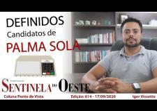 Definidos os candidatos em Palma Sola!
