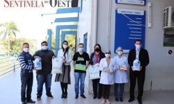 Entrega de EPI's para o Posto de Saúde de Palma Sola