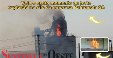 Veja o exato momento da forte explosão no silo da empresa Palmasola SA