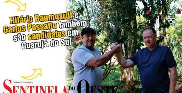 Hilário Baumgardt e Carlos Possatto também são candidatos em Guarujá do Sul