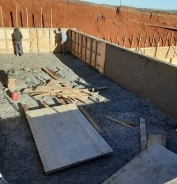 Construção da estação de tratamento de efluentes está em ritmo acelerado