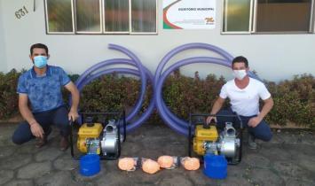 Guarujá do Sul é contemplado com equipamentos para prevenção de estiagem