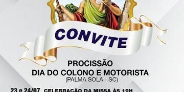 Convite: dia do colono e motorista