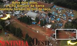 Após dois anos, o CTG Sinuelo da Serra realizou torneio de tiro de laço