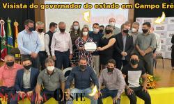 Visita do governador do estado em Campo Erê