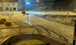 Chuva de granizo atinge o município