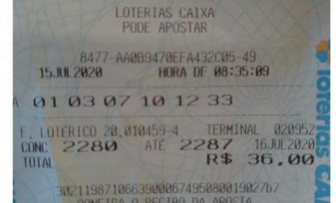 Palmassolense fatura R$ 15 mil na Quina