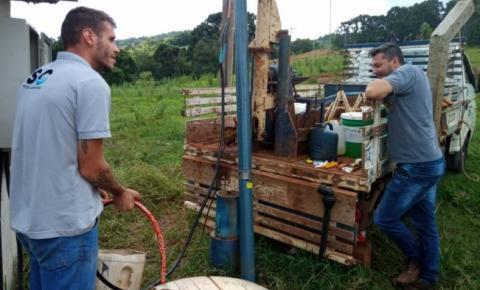 Furtados cabos de energia de poço na São João, interior de Flor da Serra do Sul