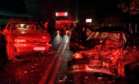 Colisão em Romelândia deixa três pessoas feridas