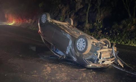 Casal retornava de viagem de Palma Sola quando sofreu acidente