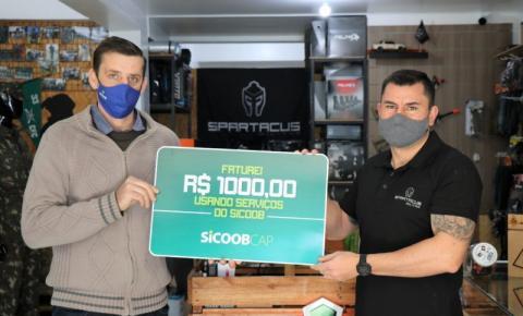 A empresa Spartacus faturou prêmio no valor de R$ 1 mil