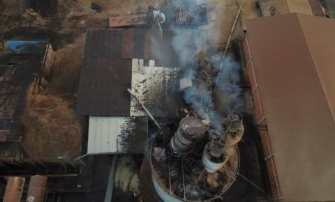Silo de pó da Palmasola S/A pegou fogo e explodiu na tarde de hoje